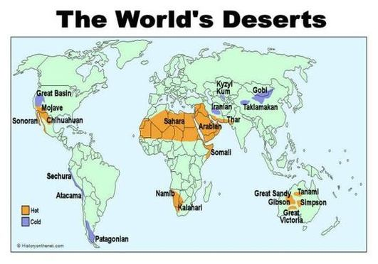world map of desert biomes images
